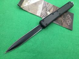 Wholesale Black Modelling - 8 models Makora II 106 D2 blade T6-6061 black carton fiber handle double action folding knife Xmas gift 1pcs