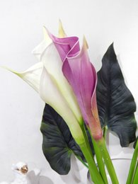 "Wholesale Latex Calla Lilies Wholesale - 26"" Newest Real Touch Latex Calla lily Single Stem artificial spring flowers for home decor, wedding bouquets, and centerpieces (12 PCS)"