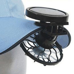 Wholesale Solar Panel Camp - Portable Outdoor Hat Clip-on Solar Panel Mini Fans Sun Power Energy Panel Cooling Cell Fan Cooler for Camping Hiking Fishing Cooling Gadget