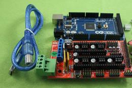 h crema Rebajas Mega 2560 R3 + 5pcs A4988 + LCD 2004 Display + controlador de impresora 3D RAMPS 1.4