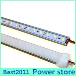 Wholesale U Clear - DC 12V 36leds m 50cm U groove rigid led strip 7020 SMD led cabinet lights + PC milky clear cover Free shipping