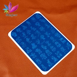 Wholesale Nail Cartoon Character - Wholesale- New Flower Nail Art Stamping Plates Cartoon Characters Designs Image Disc Transfer Print Template DIY with protective tools