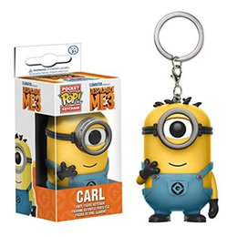 Wholesale Despicable Action - Despicable Me 3 Carl Agnes Model Kits Key Ring Action Figures Doll Toy Christmas Brithdays Gifts