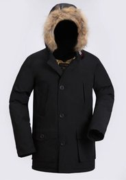 Wholesale Puffer Ski Jackets - 2018 High Quality CANADA New Winter men's Down puffer jacket Casual Brand Hoodies Down Parkas Warm Ski Mens Coats 2608