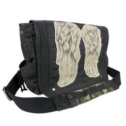 Wholesale Walking Dead Bag - men Bag Purse The Walking Dead Daryl Dixon Wings Messenger Shoulder Bag Good Quality Canvas Waterproof Hand Bag