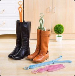 Wholesale Home Boots - Plastic Boots Holder Foldable Scalable Dancer Clip Shelf Rack Support Stand Organizer Home Shoe Rack OOA3409