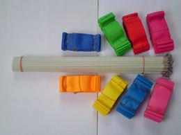 Wholesale Stick Streamer Dance - 10pcs lot 4M Gym Dance Ribbon Rhythmic Art Gymnastic Streamer Twirling Rod Stick 12 Colors
