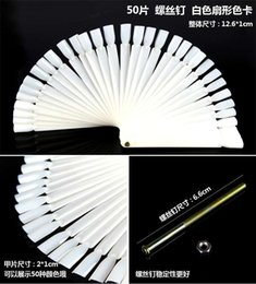 Wholesale Fan Nails - 50pcs False Display Nail Art Fan Wheel Polish Practice Tip Sticks Design DIY,IN STOCK free shipping #6685