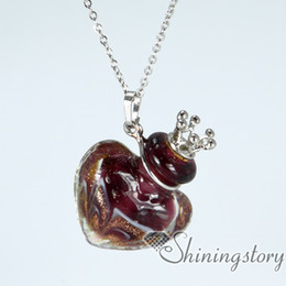 Wholesale Murano Glass Oil Heart - heart essential oil jewelry murano glass diffuser necklace wholesale essential oil necklace wholesale aromatherapy necklaces aromatherapy in