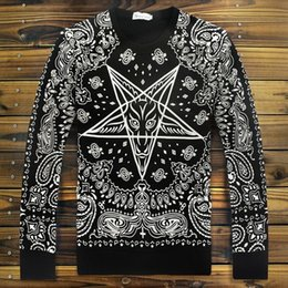 Wholesale Ktz Hoodie - High Quality Autumn Winter Women Men hoodies Paisley print KTZ bandana Sweatshirt HIPHOP Sweat Stars pullovers Tobs shirt XL