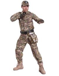 Wholesale Military Combat Uniforms - Military Clothing Camo American BDU Field Uniform Shirt Pants Tactical Clothing Suit Dress Military Uniform Men Combat Suit