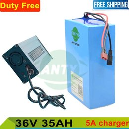Wholesale E Bike Kit Battery - Electric bicycle battery 36v 35ah 1000w lithium battery 36v with 5A charger for e bike scooter kit motor Duty   shipping free