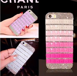 Wholesale Diamond Iphone 5s Cases - For iphone 6 case 3D Luxury Crytal Rhinestone Full Diamond DIY Hard Case Cover for iPhone 6 Plus 4.7 inch iphone 5 5S Bling Girls