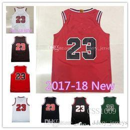 Wholesale Cheap Basketball Wear - New season jerseys Top quality #23 Jerseys Classical Black Red White Basketball Jersey Men Sports wear embroidered Logos Cheap sports shirts