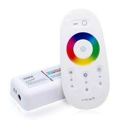 Wholesale Touch Pannel - Wholesale-Popular Touch Pannel RGB Controller 12V-24V18A Wireless 2.4Ghz Remote for LED 5050 3528 RGB Strip RF RGB LED Controller