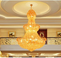 Wholesale Projects Construction - Crystal chandeliers led chandelier lighting luxury fancy villas hotel penthouse project construction led crystal chandeliers with bulbs