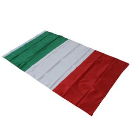 Wholesale Italy Decor - 3 x 5 Feet ( 90 x 150 cm ) Italy Flag - Polyester Euro Cup Italia Italian National Flags Banners For Home Decor Activity Parade