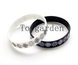 Wholesale Custom Rubber Bands Bracelets - 50pcs customized rubber hand bands promotions custom silicone bracelets cheap personalize writing on silicone wristbands