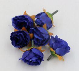 Gran venta ! 500pcs 7 colores Tea Rose Flower Head flores artificiales que adornan las flores (za81) desde fabricantes
