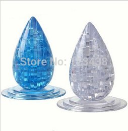 Wholesale 3d Crystal Puzzle Wholesale - Wholesale-3D Crystal water Drop Jigsaw Puzzle Educational Toys, with retail box