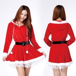 Wholesale Christmas Sexy Suit - Wholesale-Christmas Cosplay uniforms temptation sexy lingerie girl cat girl Christmas red Christmas suit