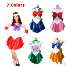 sailor moon party Promo Codes - Wholesale-New Anime Pretty Soldier Sailor Moon Cosplay Costume female halloween party Any Size,Customized accepted