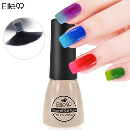 Wholesale Color Changing Nail Polish Temperature - Wholesale-Elite99 7ml Temperature Change Chameleon Changing Color Soak off UV Nail Gel Polish UV Gel Choose 1 From 54 Color