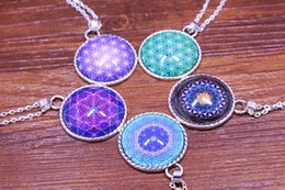 Wholesale Diamond Life - 2016 hot FLOWER OF LIFE Spiritual Jewelry Mandala Necklace Yoga Pendant Jewelry Metaphysical Sacred Geometry Necklace
