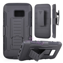 Wholesale Hybrid Combo - For Galaxy S7 Future Armor case Impact Hybrid Hard Phone Case Cover + Belt Clip Holster Kickstand Combo For Samsung Galaxy S7 Edge