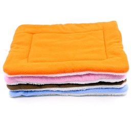 Wholesale Warm Dog Blankets - Travel Essential!! Foldable Dog Mats Soft Pet Cushion Convenience Carry Pet Puppy Bed Warm Thick Cat Bed