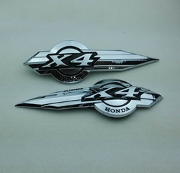 Wholesale Motorcycle Decals For Honda - X4 Motorcycle Fuel Tank Emblem Badge for Honda x4 1300C 3D Motor Gas Decal Sticker Free Shipping
