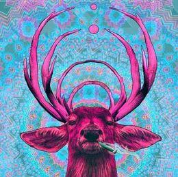 Nuovo cucito fai da te diamante pittura a punto croce kit pieno resina diamante rotondo ricamo mosaico home decor animale cervo Sika yx1286 da dipinti italiani fornitori