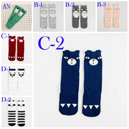 Wholesale Flag Stockings - Unisex Baby Girl Boy kids cartoon knee high Cute Cartoon Socks cat fox american flag socks Leg Warmers Kids Kawaii Socks in stock