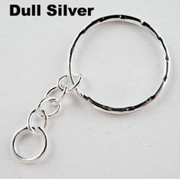 Wholesale Keychains For Couples - Wholesale Vintage Silvers Opening Embossed KeyChains Split Key 4 Ring For Keys Car Bag Key Ring Handbag Couple Key Chains Gifts 100pcs Z670