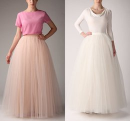 Wholesale Long Party Dresses Online - Hot Wholesale Underskirt 2015 Long Bridesmaid Party Dresses Petticoat Fancy Net Skirt Rockabilly Free Shipping Tutu Petticoats Online Skirts