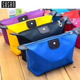 Wholesale Wholesale Clutch Purse Kits - 8 Colors High Quality Lady MakeUp Pouch Cosmetic Make Up Bag Clutch Hanging Toiletries Travel Kit Jewelry Organizer Casual Purse SPO2020