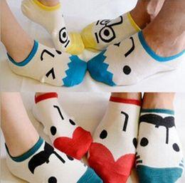 Nuovo bambino di estate del fumetto affronta calzini bambini cotone calzino bambini calzini belle ragazze dei ragazzi calzini 12 pair = 24 pz da calzino lungo all'ingrosso del bambino fornitori