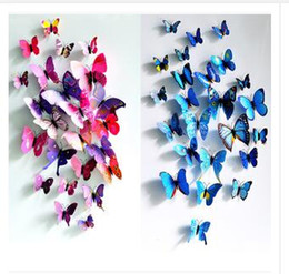 Wholesale Dhgate Kids - Wall Stickers New 3d butterfly decoration home wall stickers 12pc 3D Butterflies PVC Removable Cinderella Dhgate Free Shipping R1344