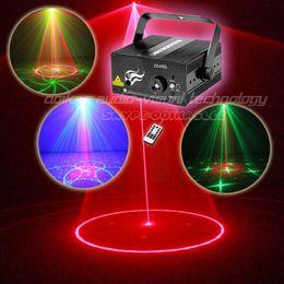 Wholesale Mini Lazer Stage Lighting - Wholesale-Mini Laser Projector 24 Patterns Red Green Remote Controller Stage Lighting Disco Light Led Party Lights Lazer Projetor laser