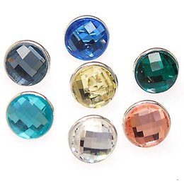 Wholesale Kameleon Bracelet - Wholesale-One set of faceted crystal jewelpops,fits kameleon bracelets,necklace,ring,925 silver plating,assorted color crystal jewelpops