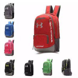 Wholesale Europe Brand Bag Wholesale - Hot Brand UA Backpack Casual Hiking Camping Backpacks Waterproof Travel Outdoor Bags Teenager School Bag Makeup Bags DHL Shipping