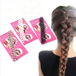 Wholesale Hair Weaving Tools - Hair Braiding Braider Tool Head To Weave Hairstyles Hair Accessories Styling Ponytail Hair Styles For Braids Hairdressing c359