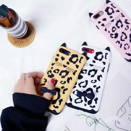 Wholesale Iphone Silicon Cat Cases - Silicone Cartoon Ring Phone Case Soft Silicon Cute Black Tabby Cat Case For iphone X 8 7 6 6s plus Opp Bag