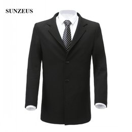 Wholesale Fit Suite - Tuxedos with Two Buttons Black Suite Groom Wear Notched Lapel One Pieces Ready to Wear Men's Business Dresses