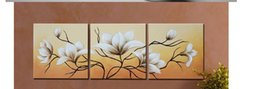 Wholesale Group Oil Paintings Design - Hand-painted Oil Painting in Yellow calla 3 panels Group Oil Paintings  New Design Oil Painting sa-919
