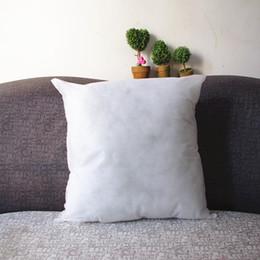2019 almohada de fibra hueca 1x Almohadilla de cojín cuadrado blanco Throw Pillow Insert Fibra hueca interior 16.5x16.5x6inch 42x42cm Envío de la gota almohada de fibra hueca baratos