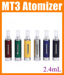 Wholesale E Cigarette Cartomizer Kit - MT3 Clearomizer EVOD mt3 Atomizer vaporizer Cartomizer 2.4ml Tank for ego t evod Electronic Cigarette E Cigarette E Cig evod mt3 kit AT032