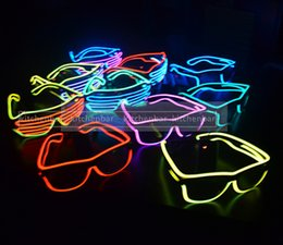 Wholesale El Lighting - 2017 EL Light Up Wire Glasses For Party Concert