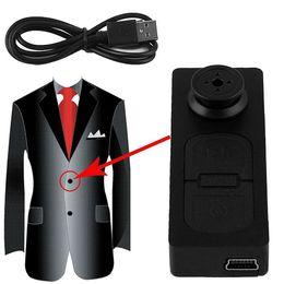 Wholesale Button Pinhole Camera - Mini S918 Button Pinhole Spy Camera Hidden DVR Hidden Video Recorder 16GB 30W Recording function buttons Black