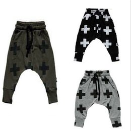Wholesale Boys Pants Stars Pocket - Cross Star Children Kids Casual Pants Boys Girls Harem Pants Toddler Trousers Spring Autumn baby Clothes Birthday Gifts for 1-6T baby